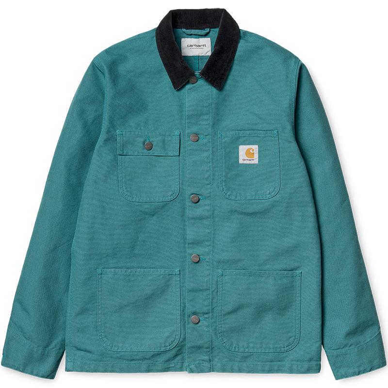 Carhartt Michigan Chore Coat Jacket Soft Teal/Dark Navy
