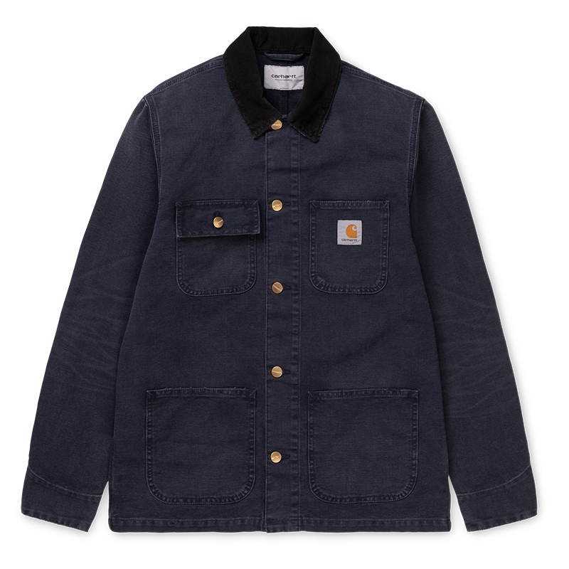 Carhartt Michigan Coat Dark Navy Aged Canvas