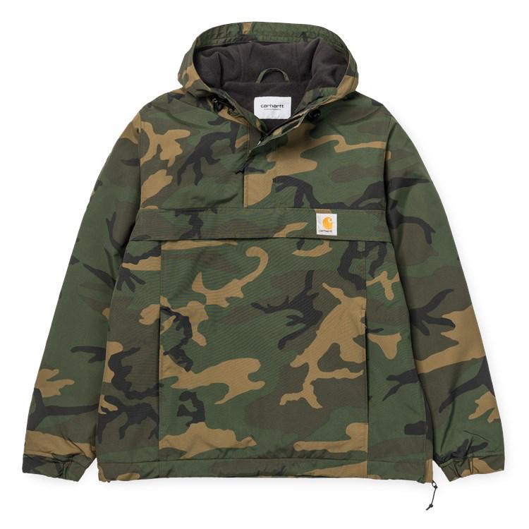 Carhartt Nimbus Pullover Jacket Camo Combat Green Fleece Lining
