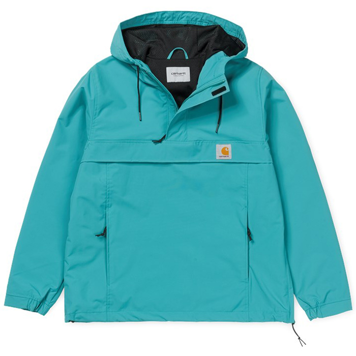 Carhartt Nimbus Pullover Jacket Soft Teal Mesh Lining