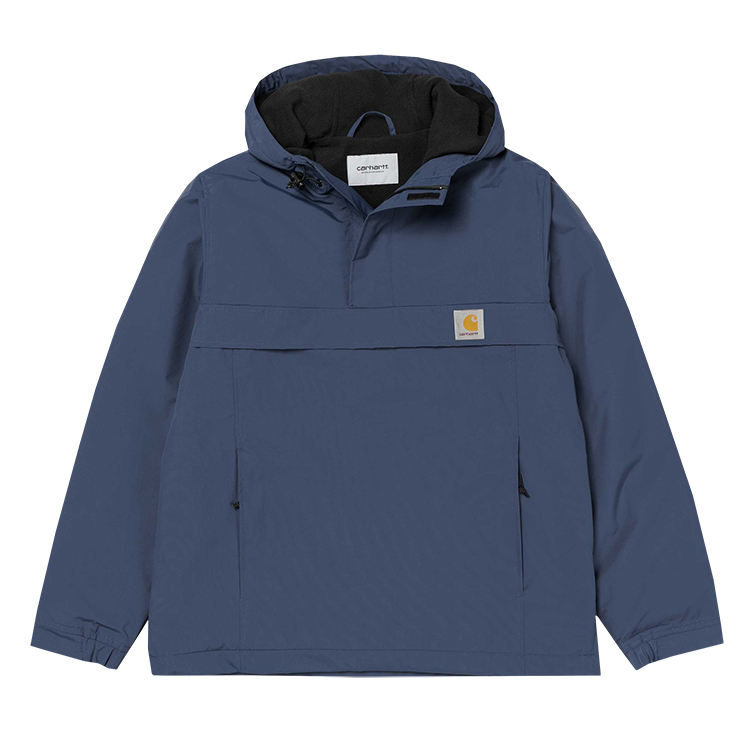Carhartt Nimbus Pullover Jacket Steel Navy Fleece Lining