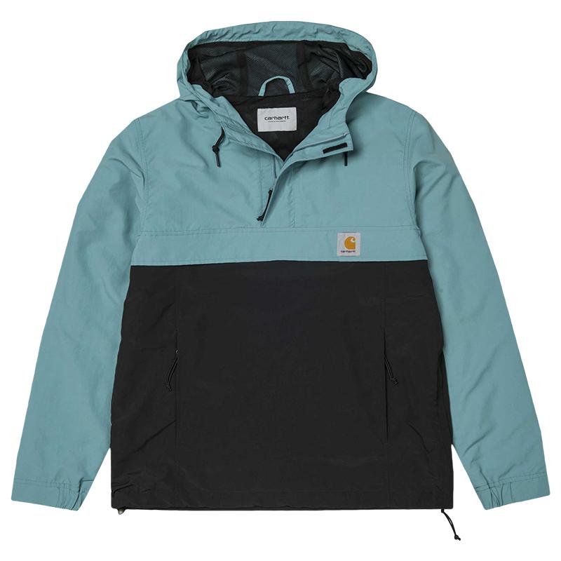 Carhartt Nimbus Two Tone Pullover Jacket Soft Teal/Black - Summer