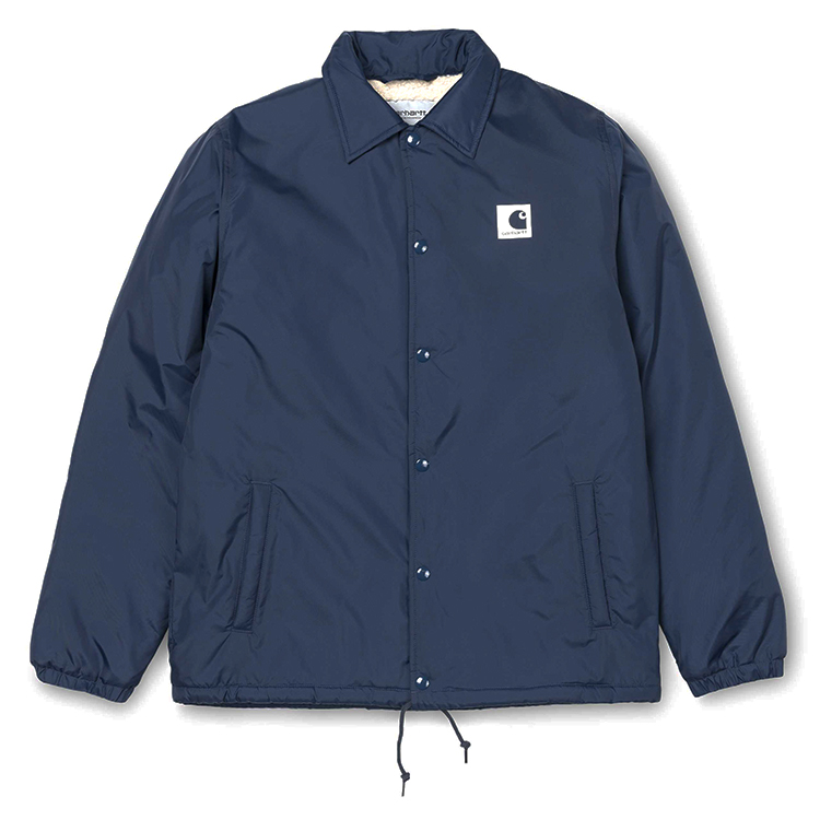 Carhartt Sports Pile Coach Jacket Steel Navy/Wax