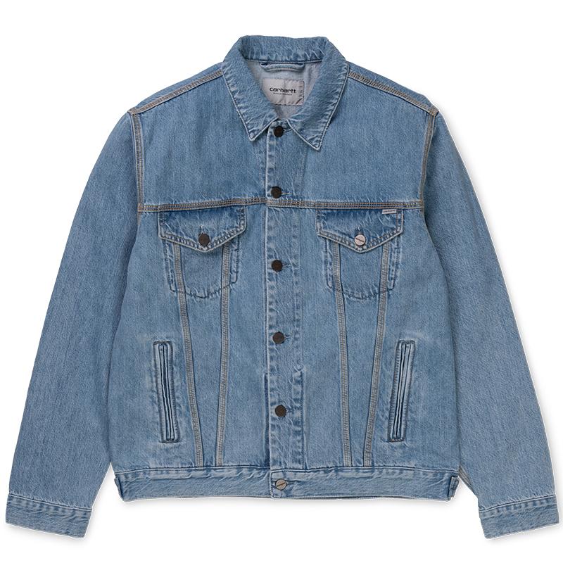 Carhartt Western Jacket Blue Stone Bleached