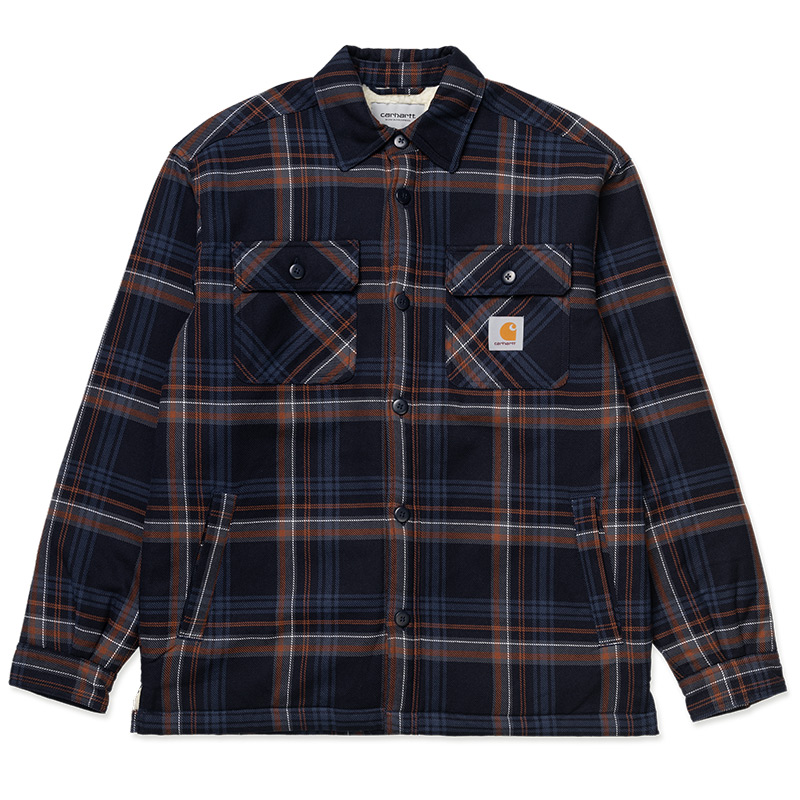 Carhartt WIP Aiden Shirt Jacket Aiden Check Dark Navy