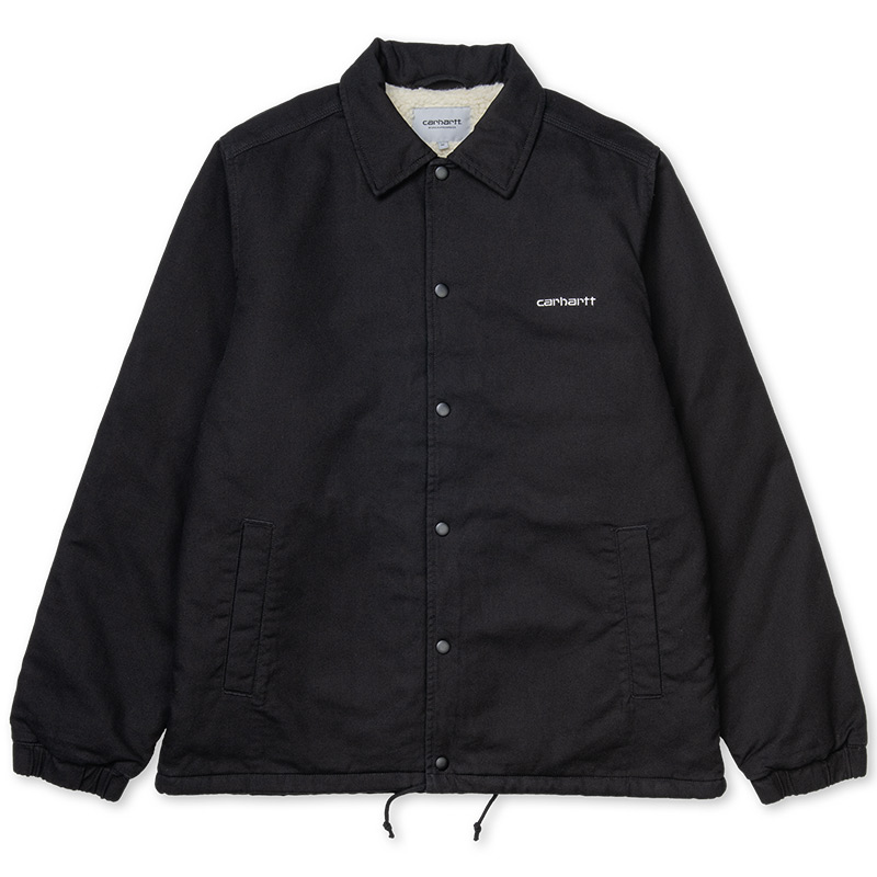Carhartt WIP Canvas Coach Jacket Black/White Stone Washed