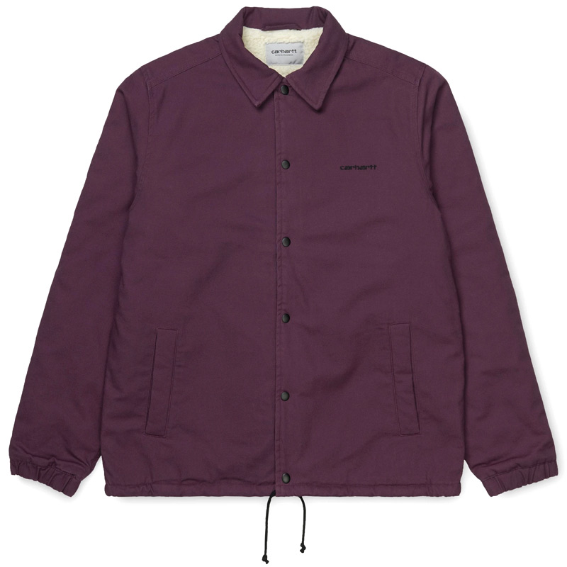 Carhartt WIP Canvas Coach Jacket Boysenberry/Black