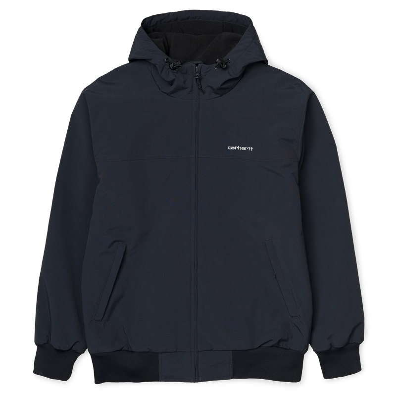 Carhartt WIP Hooded Sail Jacket Dark Navy/White