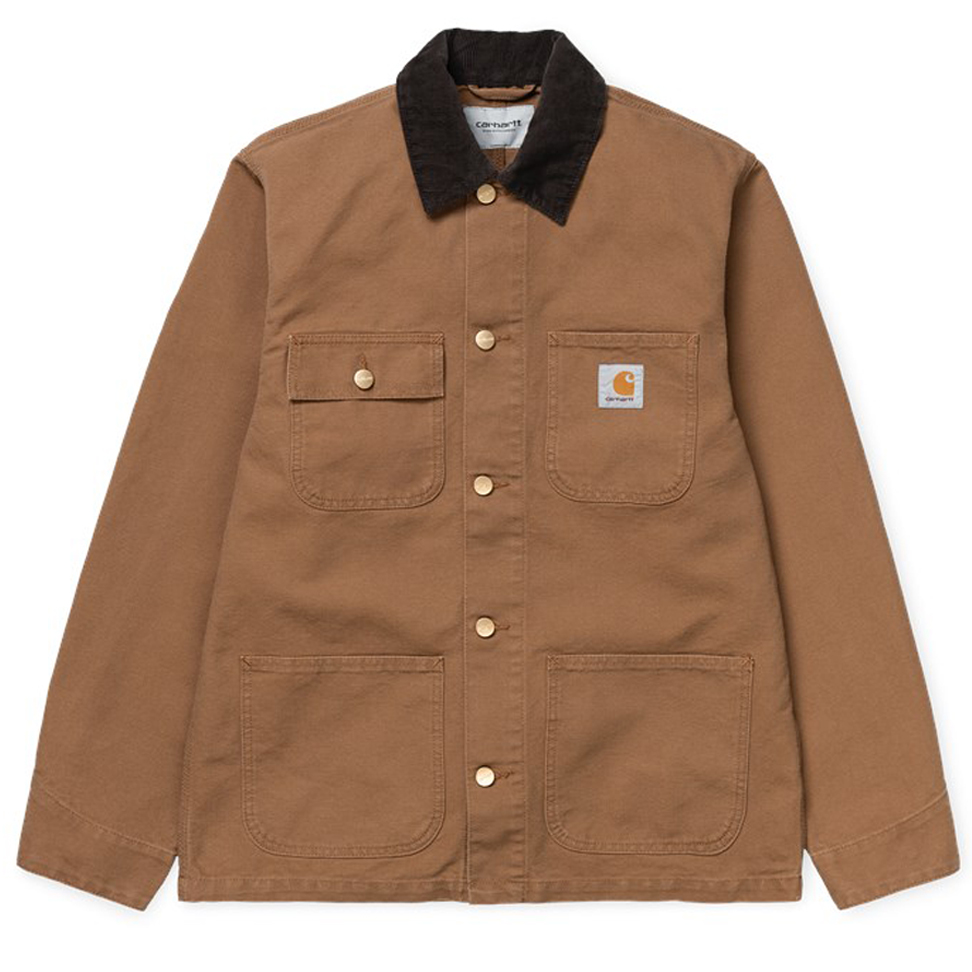 Carhartt WIP Michigan Coat Hamilton Brown Rinsed