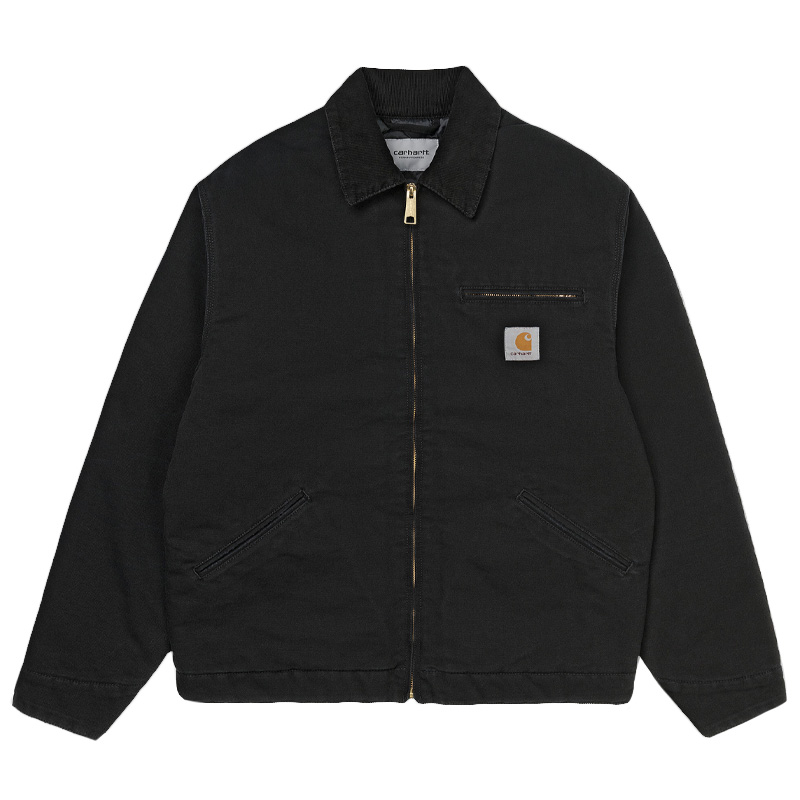 Carhartt WIP OG Detroit Jacket Black/Black Aged Canvas