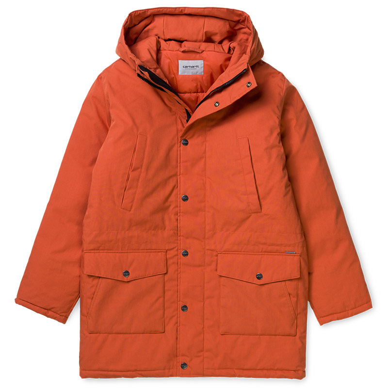 Carhartt WIP Tropper Parka Jacket Brick Orange