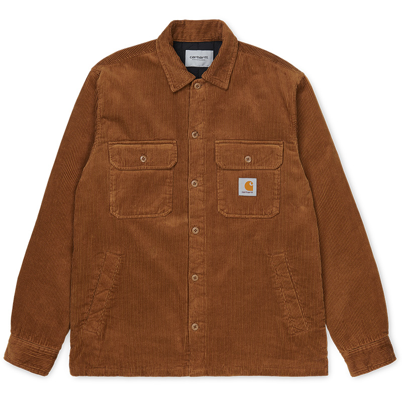 Carhartt WIP Whitsome Cord Shirt Jacket Hamilton Brown