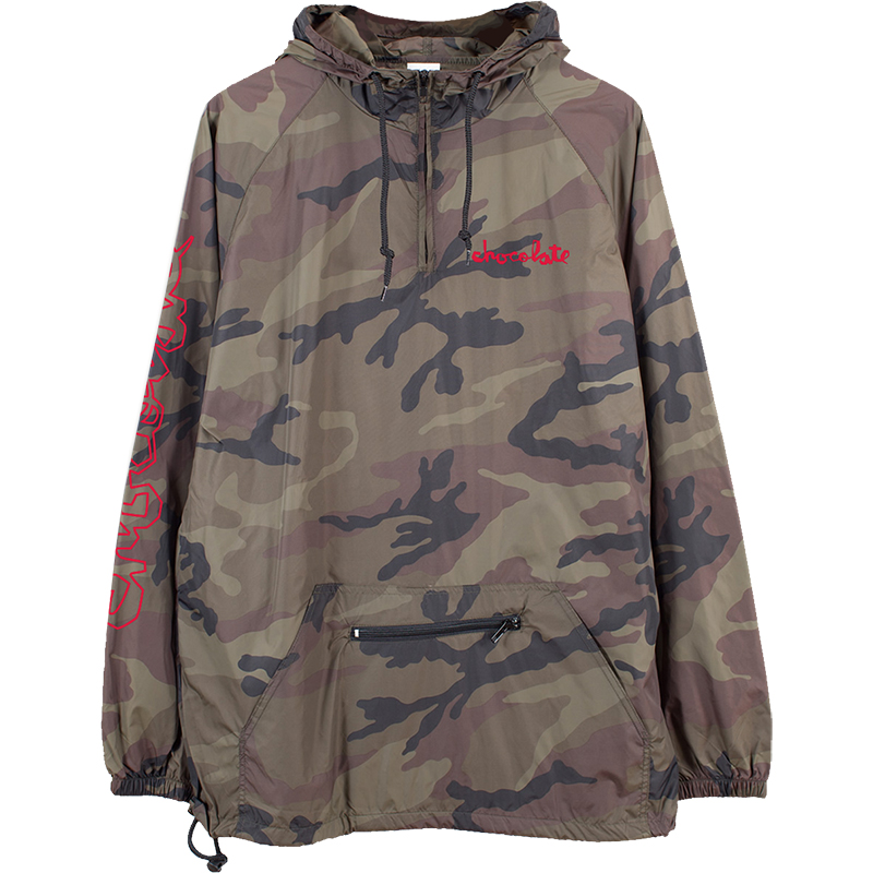Chocolate Outlier Packable Anorak Jacket Camo
