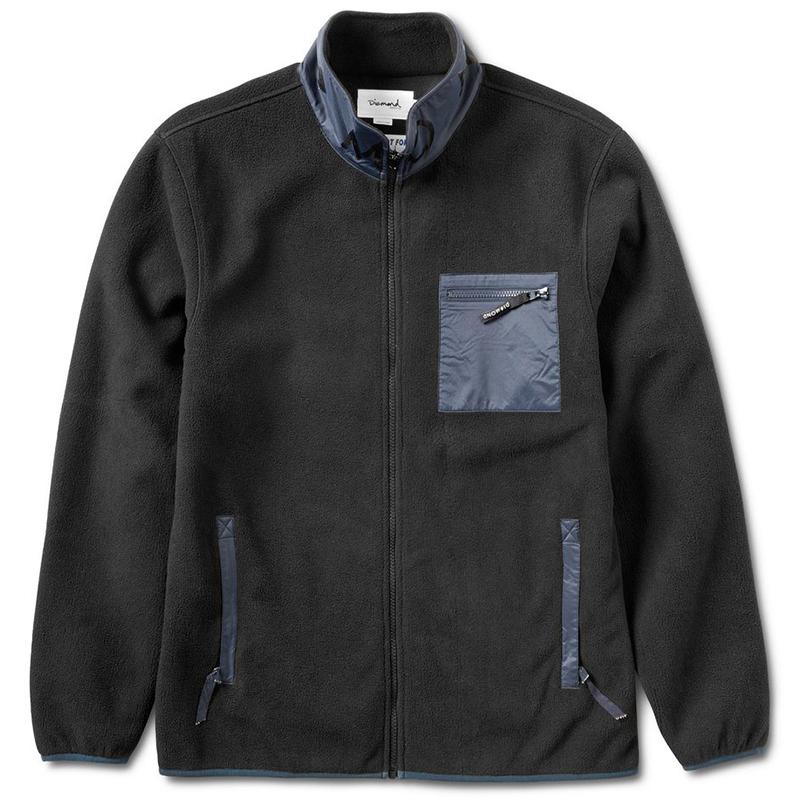 Diamond Marquise Polar Fleece Jacket Black