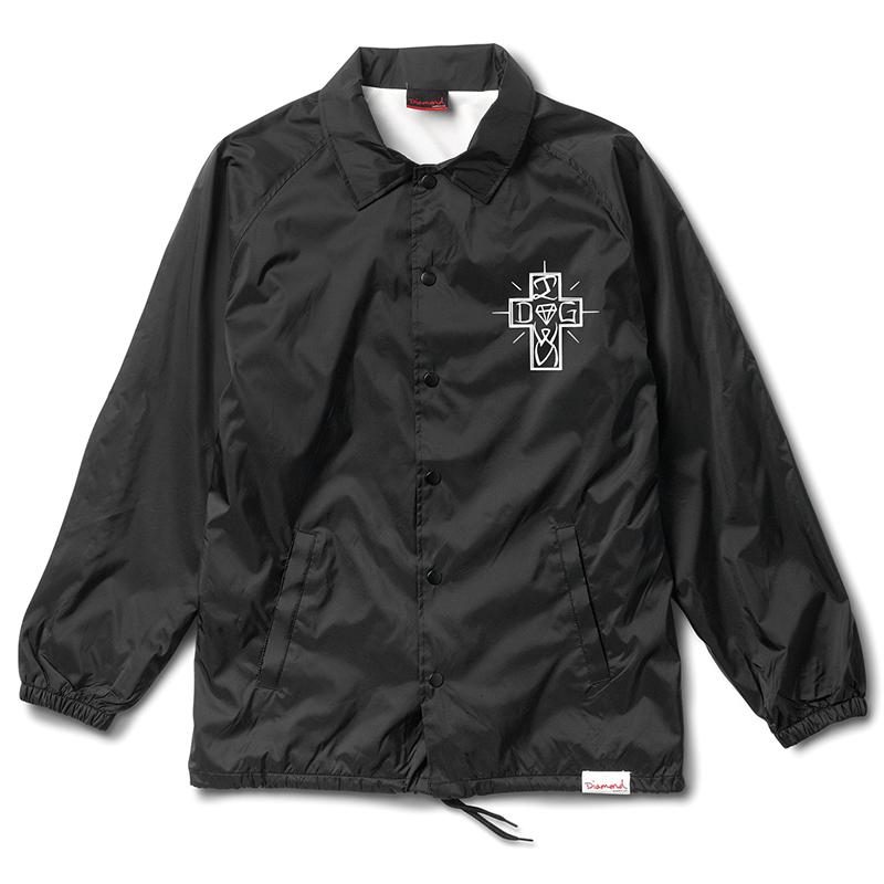 Diamond x Dogtown Coach Jacket Black