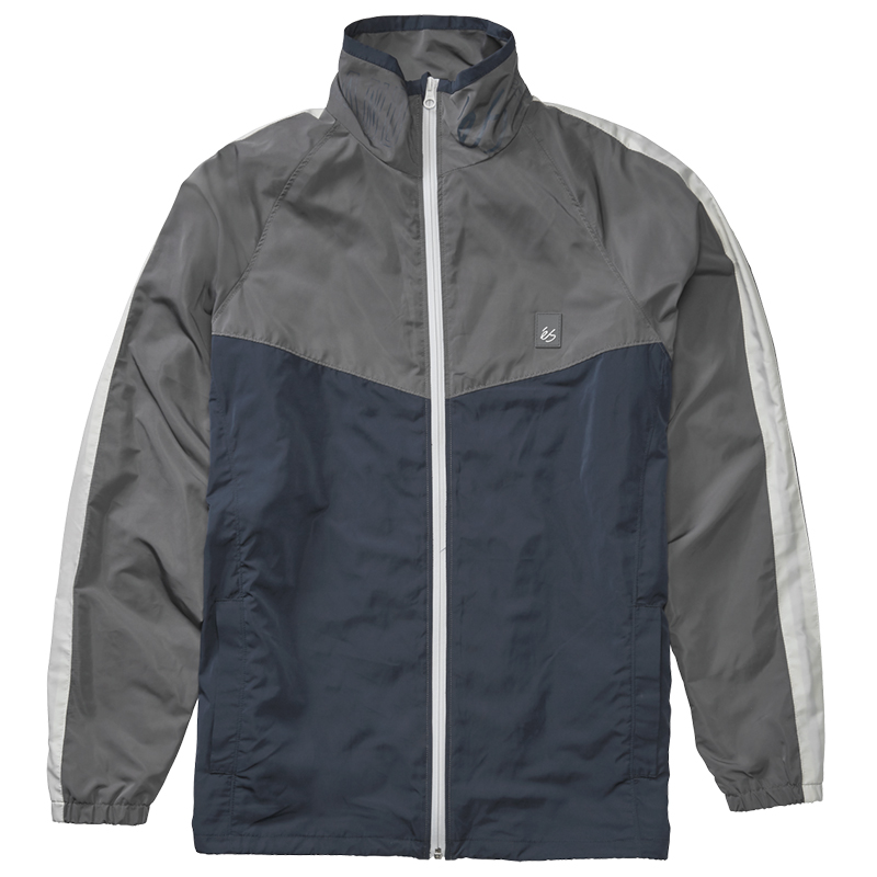 éS Laps Mock Neck Jacket Navy/Grey