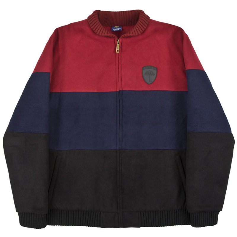 Helas Fan Jacket Burgundy/Navy/Black