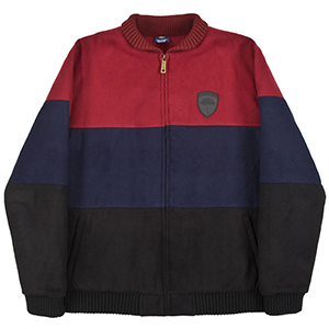 Helas Fan Jacket Burgundy/Navy/Black