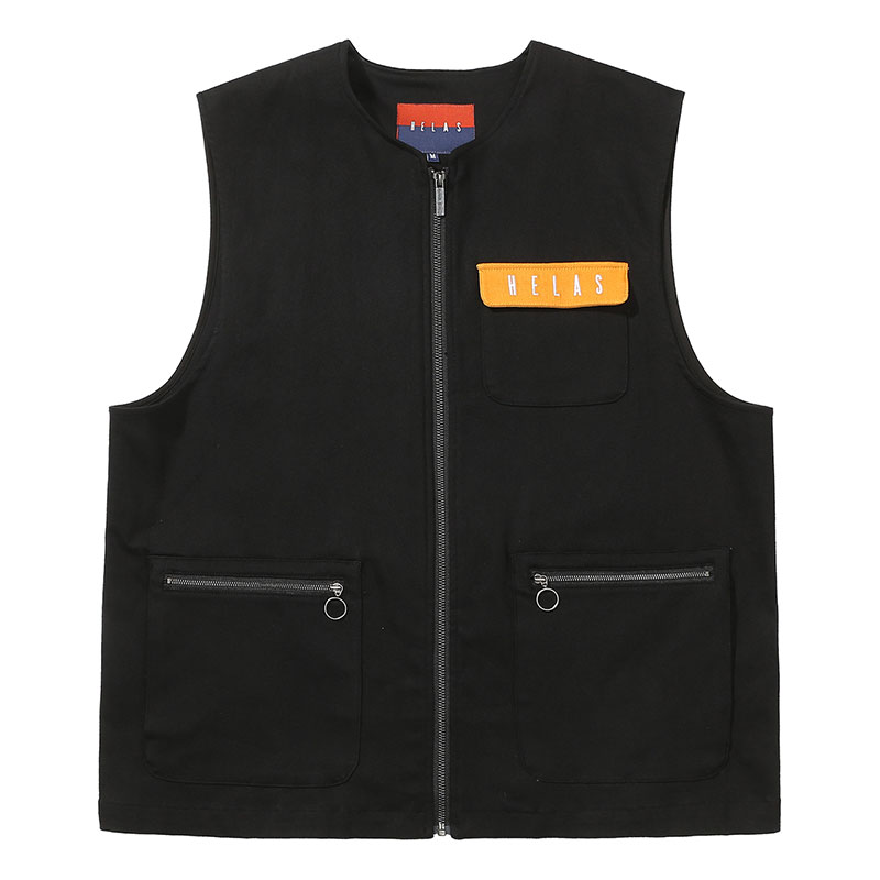 Helas Utile Sleeveless Jacket Black