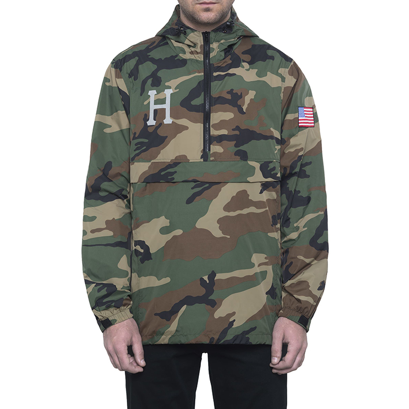 HUF 4Th Of July Fourth Anorak Jacket Woodland Camo