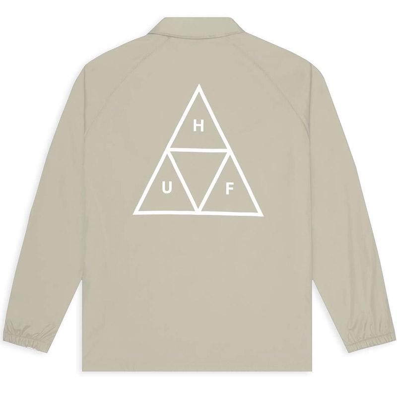 HUF Essentials Tt Coaches Jacket Stone
