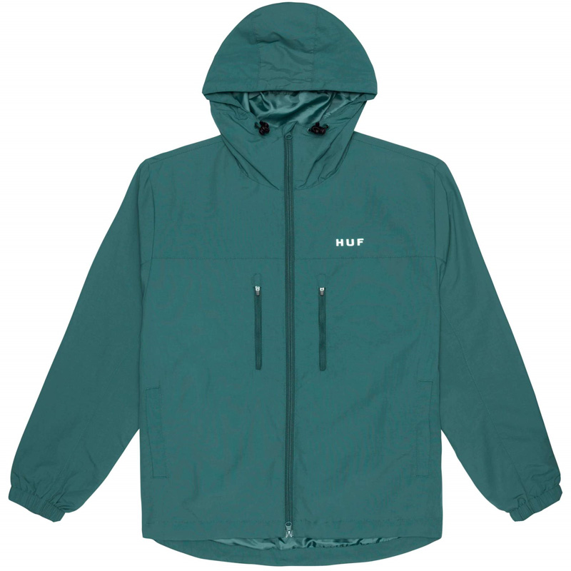 HUF Essentials Zip Standard Shell Jacket Sycamore