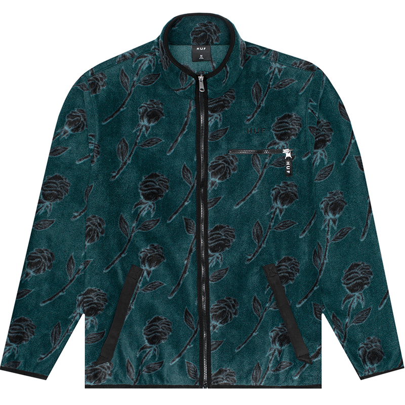 HUF Farewell Fleece Jacket Dark Forest