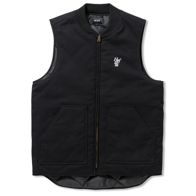 HUF Kilo Whiskey Vest Black