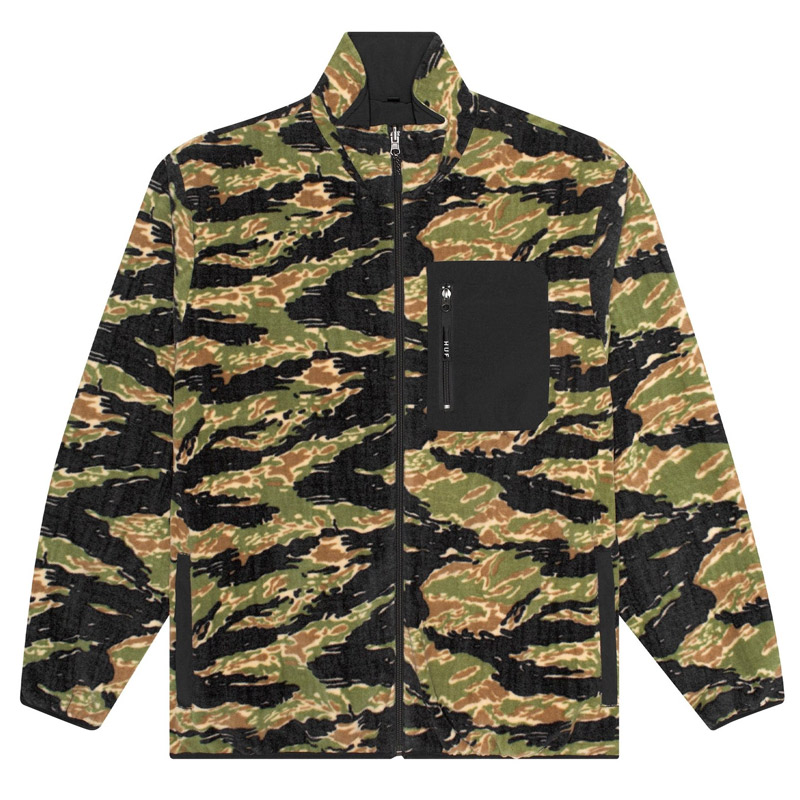 Huf Milton Rev Polar Fleece Jacket Tiger/Camo