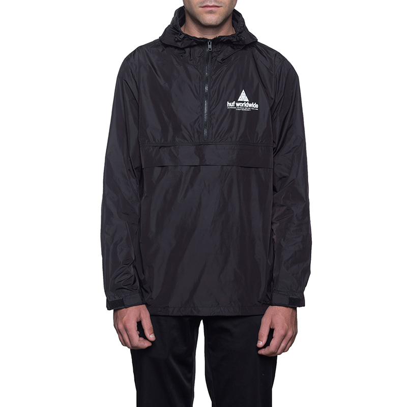 HUF Peak Anorak Jacket Black