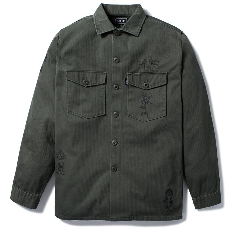 HUF Scrawl Bdu Jacket Olive Drab