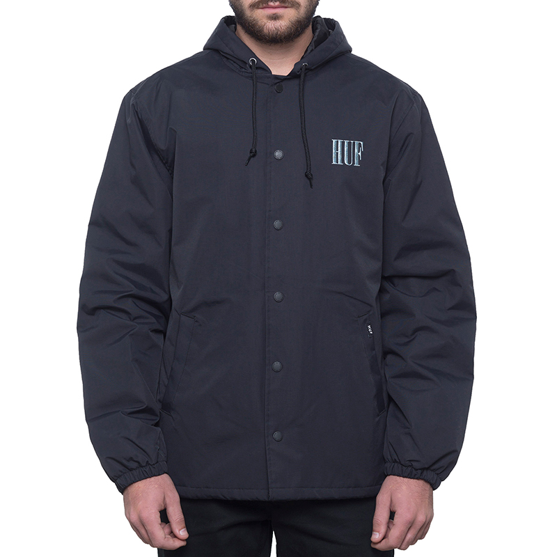 HUF Serif Quilted Coaches Jacket Black