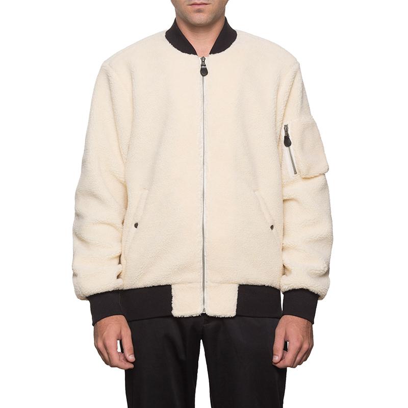 HUF Sherpa Bomber Jacket Natural