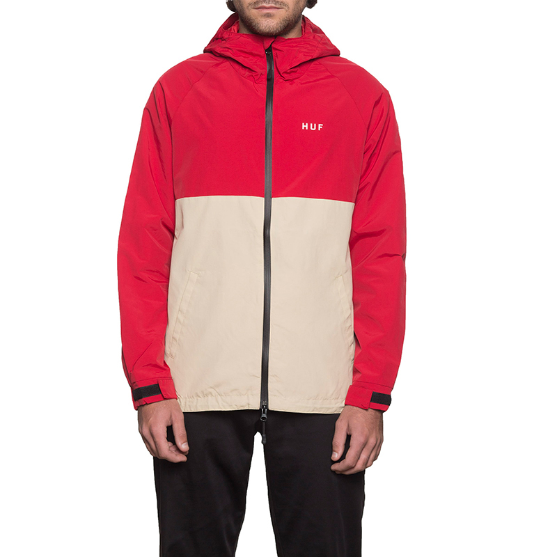 HUF Standard Shell Jacket Red/Tan