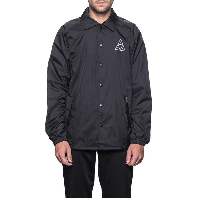 HUF Triple Triangle Coaches Jacket Black