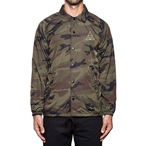 HUF Triple Triangle Coaches Jacket Camo