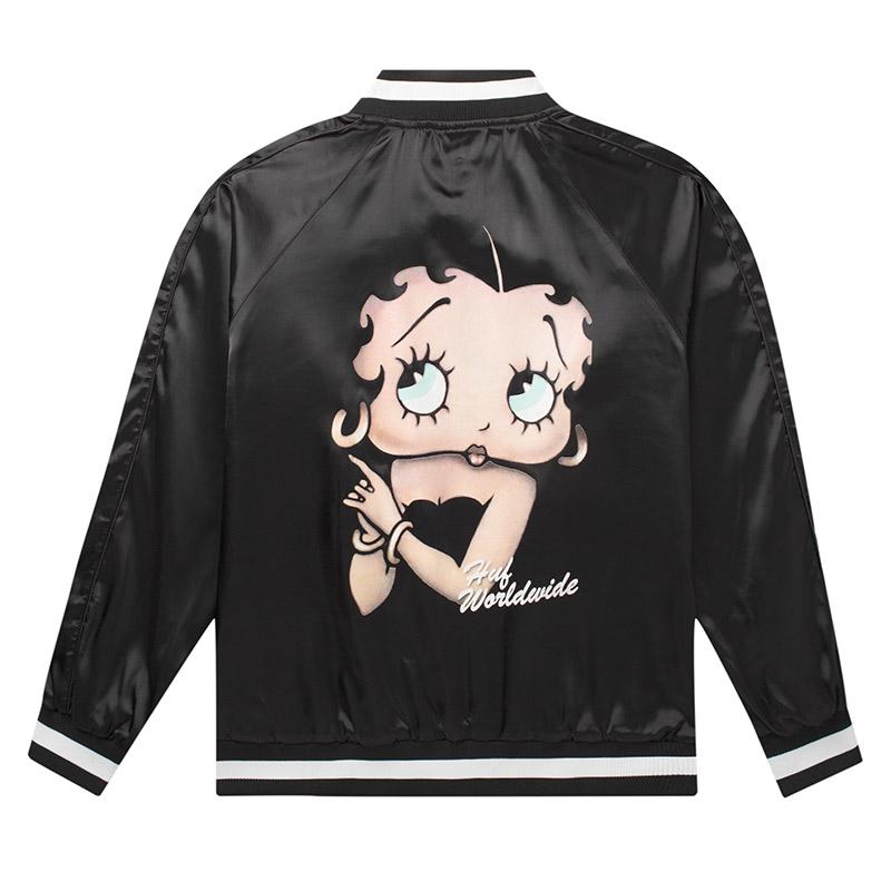 HUF X Betty Boop Cigar Club Jacket Black