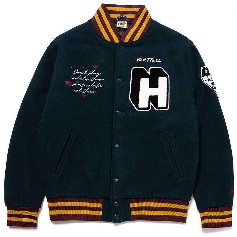 HUF X Miles Davis Pangaea Varsity Jacket Jade