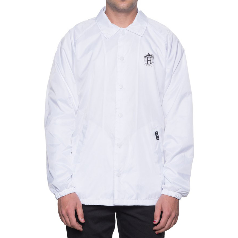 HUF X Thrasher Tds Coach'S Jacket White