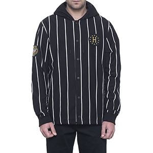 HUF X World Cup Referee Hooded Coaches Jacket Black
