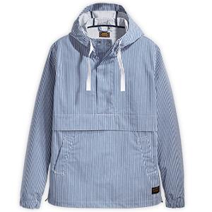 Levi's Anorak Jacket Blue Seersucker