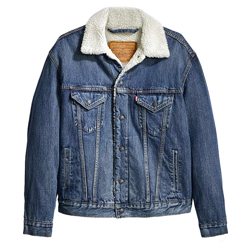 Levi's Vtg Fit Sherpa Trucker Jacket V Dark Indigo