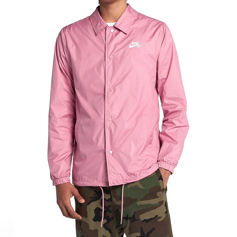 Nike SB Elemental Coaches Shield Jacket Pink/White