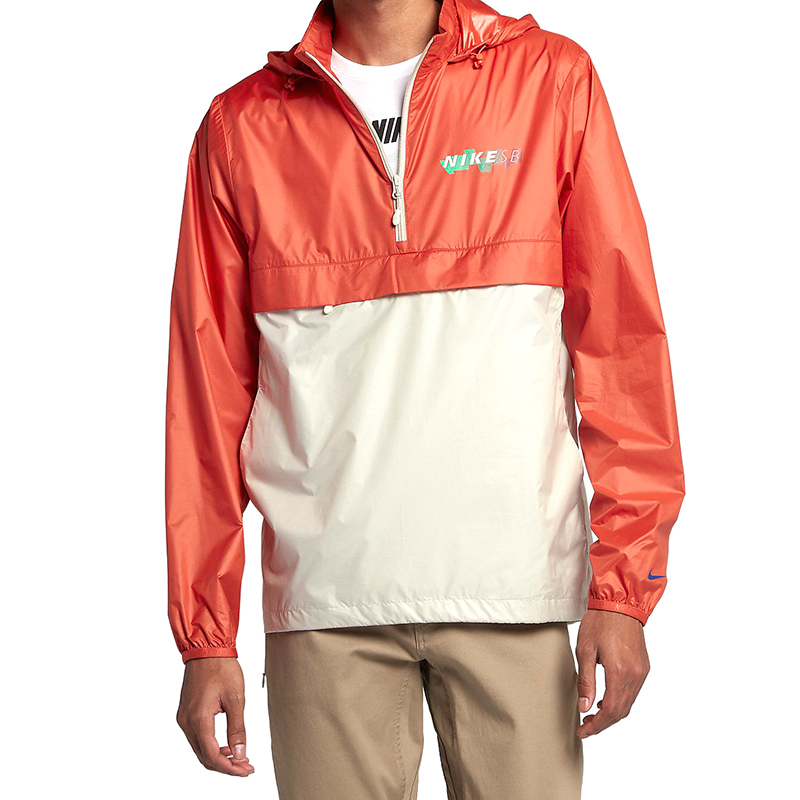 Nike SB Pack Anorak Jacket Vintage Coral/Light Bone/Hyper Royal