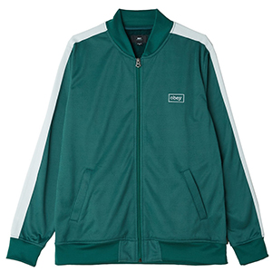 Obey Borstal Track Jacket Teal Green