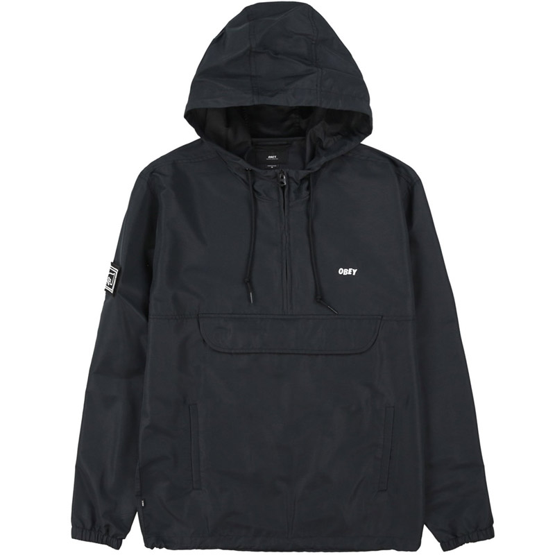 Obey Crosstown II Anorak Jacket Black