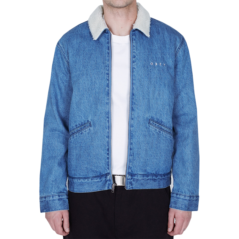 Obey Division Denim Jacket Light Indigo