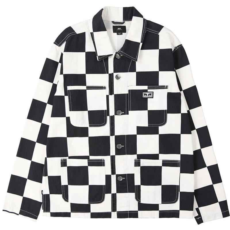 Obey Hard Work Labor Jacket Checker