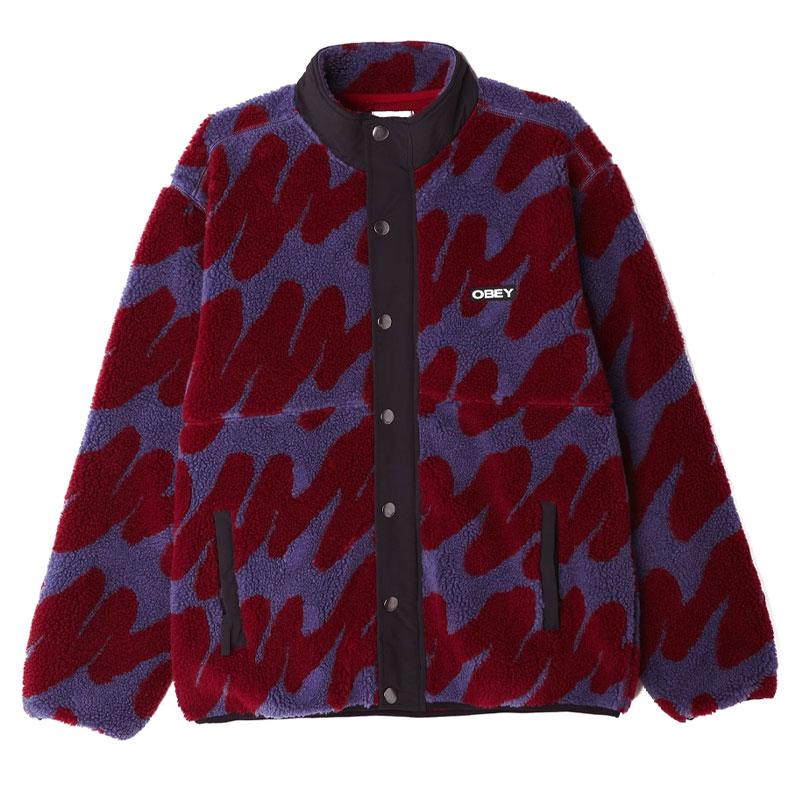 Obey Hense Sherpa Jacket Purple Multi