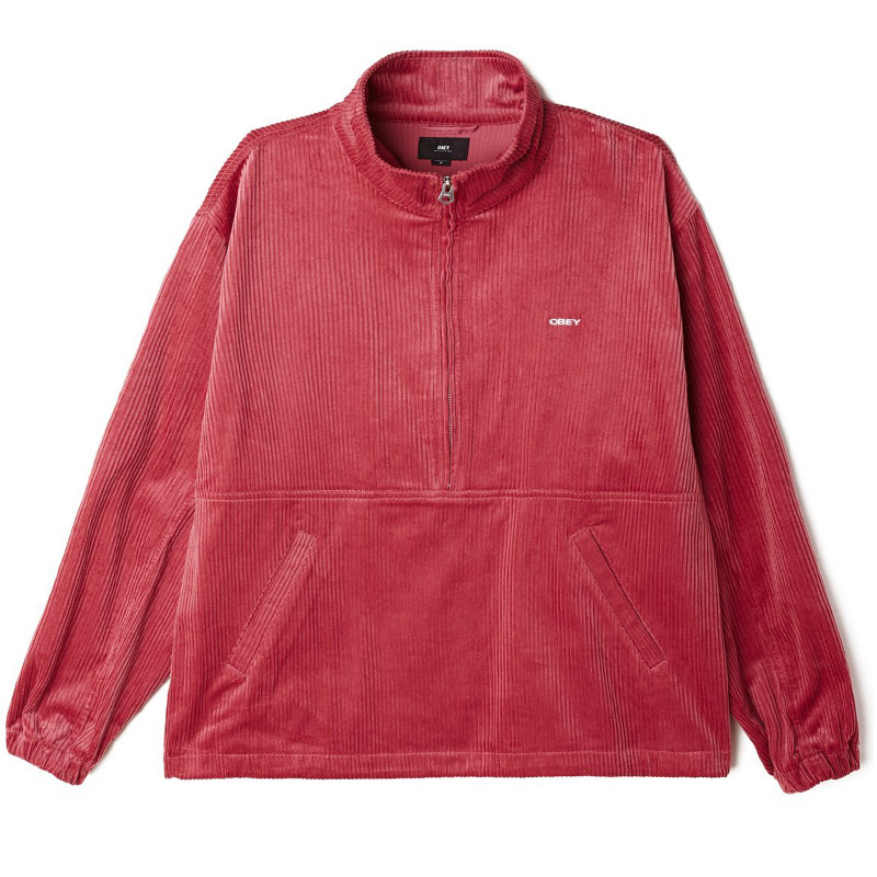 Obey Hugo Anorak Jacket Cassis